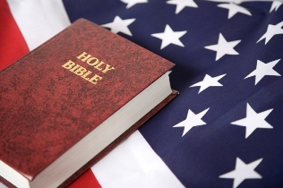 Bible and a flag